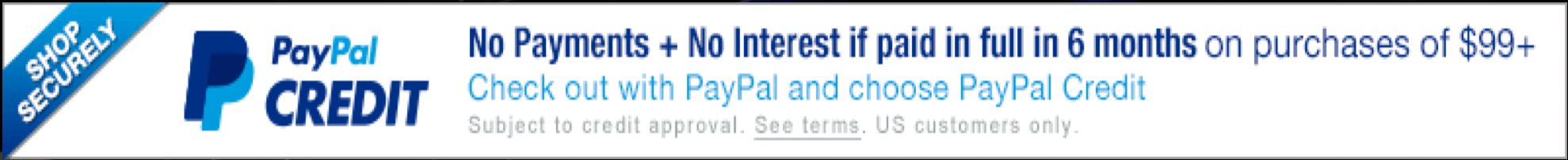 PayPal Credit 6 Months Interest Free